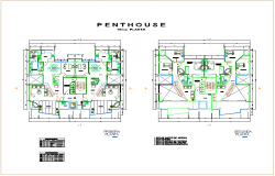 Structural view of floor plan of house with column view dwg file