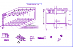 Structural view of laboratory for dental clinic dwg file