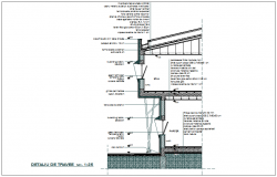 Structural view of nursing home section dwg file