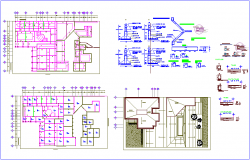 Structural view of office dwg file