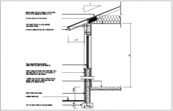 Structural view with footing and tie beam dwg file