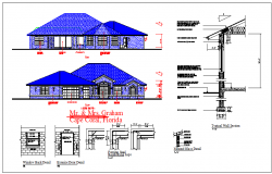 Structure & elevation detail For House