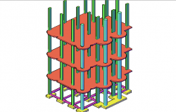 Structure 3 D plan detail dwg file