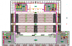 Structure Details of Auditorium Hall Architecture Layout dwg file