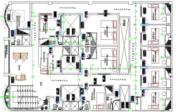 Structure Details of Five Star Hotel Project dwg file