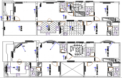 Structure Details of Multi Family Housing Project dwg file