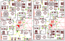 Structure Details of Multi-Family Residential Building dwg file