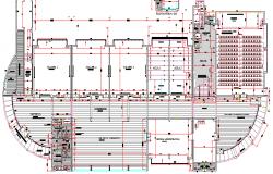Structure Details of Multi Flooring School Design dwg file