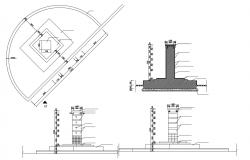 Structure Foundation Footing Drawing CAD File