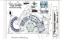 Structure and modulation details of luxuries hotel dwg file