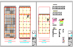 Structure design drawing of Floor Type Underground Parking