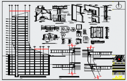 Structure design drawing of office building design