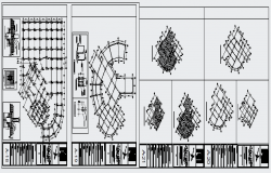 Structure design drawing of residential high rise building design drawing