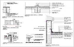 Structure detail and section view of building dwg file