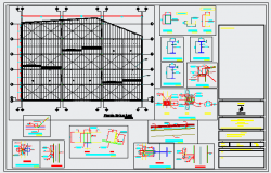 Structure detail drawing of industrial plant design drawing