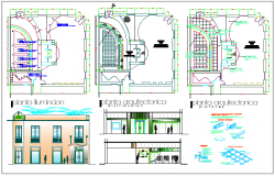 Structure detail of architecture plan dwg file
