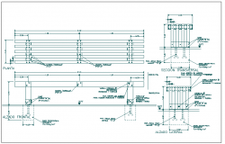 Structure detail of garden equipment dwg file