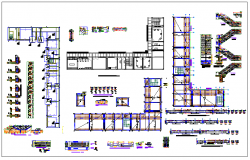 Structure detail of sections view dwg file