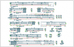 Structure detail section view dwg file