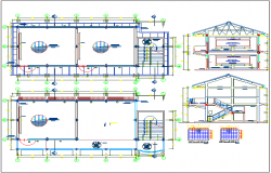 Structure detail view with specification detail dwg file
