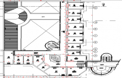 Structure details of third floor of processing plant dwg file
