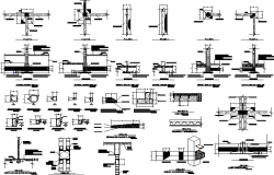 Structure details plan dwg file