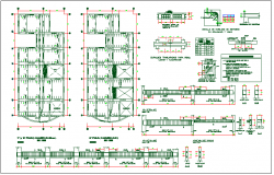 Structure member section view detail dwg file