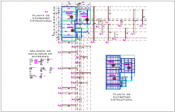 Structure of enterprise plan with structural view dwg file