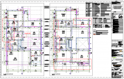 Structure plan construction building dwg file