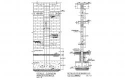 Structure plan construction details of office cad drawing details dwg file