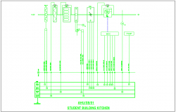 Student building kitchen electrical layout dwg file