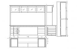 Study table detail in dwg file