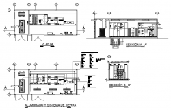 Sub-station dwg file