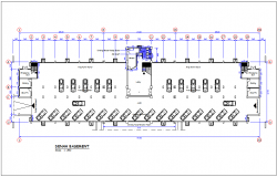 Sulawesi head quarter government building basement plan dwg file