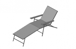 Sun Lounge top view chair 3d