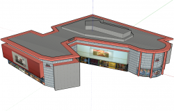 Superstructure mall 3d view skp file