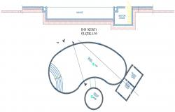 Swimming Pool Design Plan and Section AutoCAD Drawing Free Download