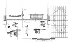 Swimming Pool Plan And Section AutoCAD File Free