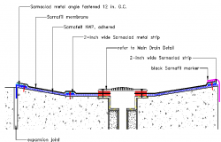 Swimming pool drainage sewer details dwg file