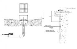 Swimming pool section drawing dwg file