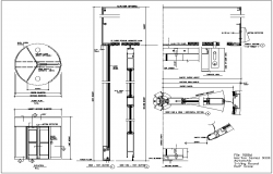 Swivel door design view