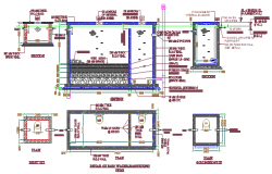 System of rain water collection design drawing