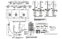 Systemic cerch construction details with column and beam cad drawing details dwg file