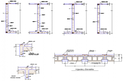 T section plan detail dwg file