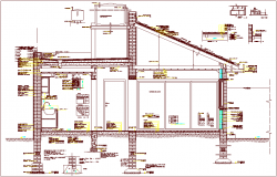 T.P scheme of government construction view dwg file