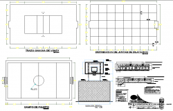 T.V unit plan and elevation detail dwg file