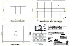T.V unit plan and elevation detail dwg file