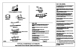 TYPICAL HANDRAILS AT RAMPS design drawing