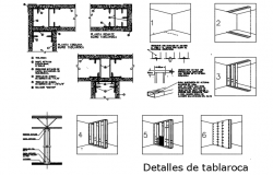 Tablaroca detail dwg file