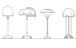Table lamp elevation details